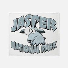 Jasper Natl Park Mountain Goat Throw Blanket