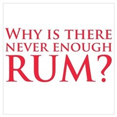 Never enough rum? Poster