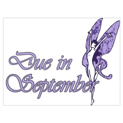 Due September Purple W Fairy Poster