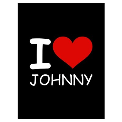 I LOVE JOHNNY Framed Print