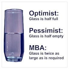MBA Half Full Poster