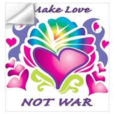 Make Love Not War Wall Decal