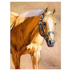 Palomino Quarter Horse Poster