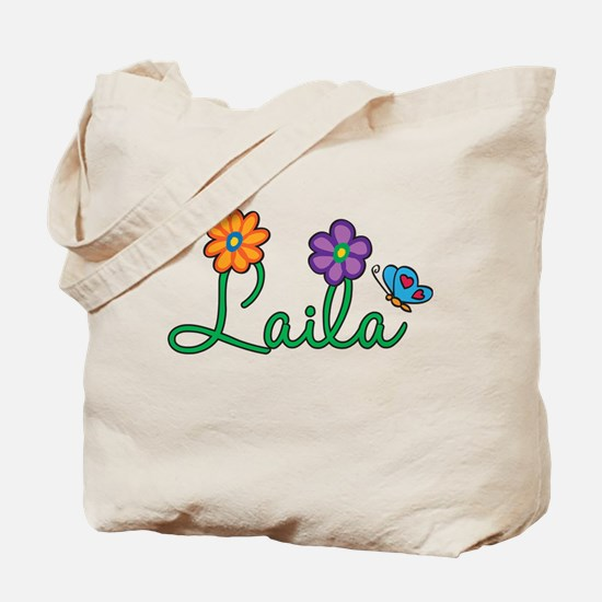 Laila Flowers Tote Bag