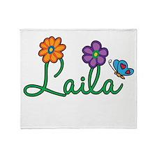 Laila Flowers Throw Blanket