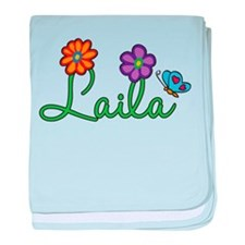 Laila Flowers baby blanket