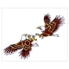 Fighting Eagles Canvas Art