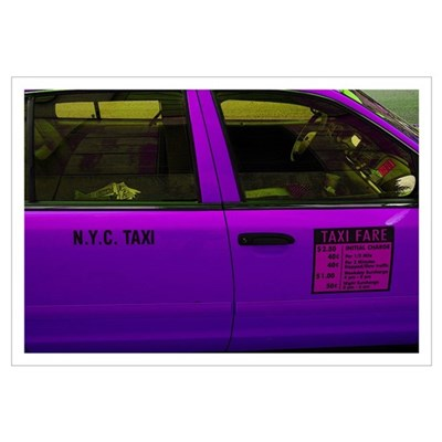 """NYC Purple Taxi"" Print 23x33"" Poster"