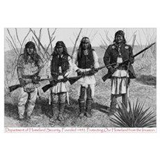 Native Homeland Security Canvas Art
