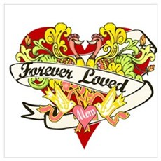 Forever Loved Red Heart Canvas Art