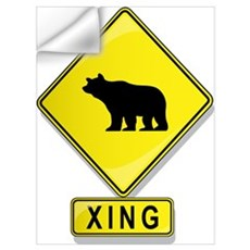 Bear XING Wall Decal