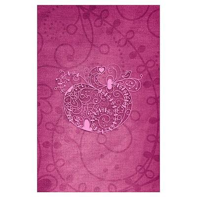 Curly Pumpkin (Pink) Poster