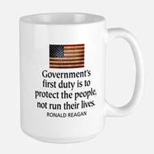 Government's first duty is to Large Mug