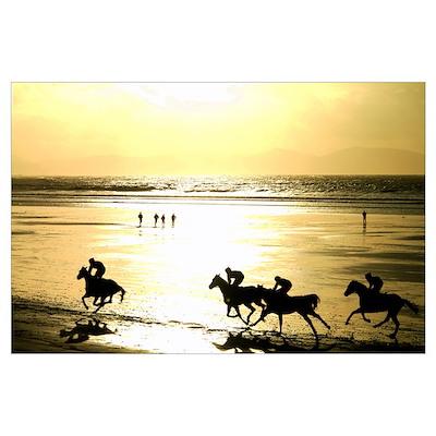 Beach Racing Poster