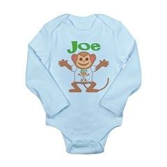 Little Monkey Joe Long Sleeve Infant Bodysuit