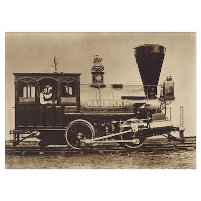 Nashville & Northwestern Locomotive Small Framed P Poster