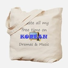 I waste all my time on Korean Tote Bag
