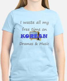 I waste all my time on Korean T-Shirt