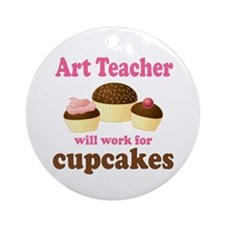 Funny Art Teacher Ornament (Round)
