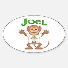 Little Monkey Joel Sticker (Oval)