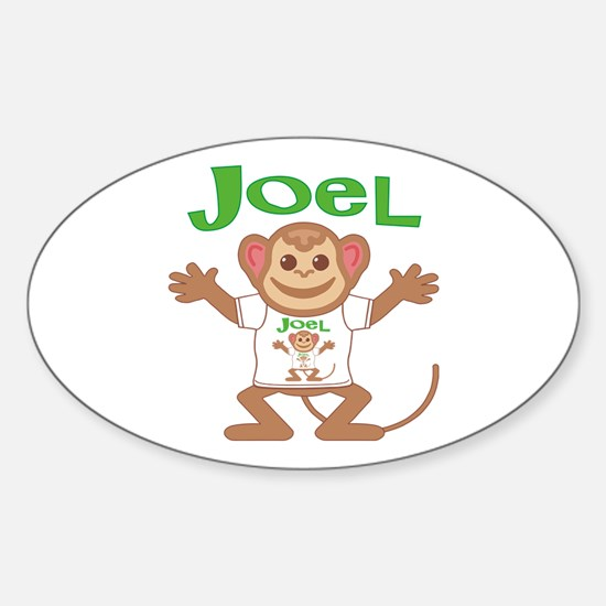 Little Monkey Joel Sticker (Oval)