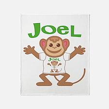 Little Monkey Joel Throw Blanket