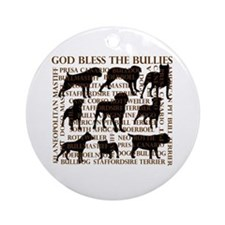 God Bless The Bullies Ornament (Round)