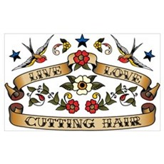 Live Love Cutting Hair Poster