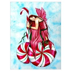 Christmas Fairy Minty Winter Poster