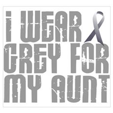I Wear Grey For My Aunt 16 Canvas Art