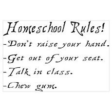 Homeschool Rules Poster