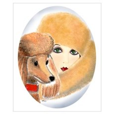 Vivian and Peaches Canvas Art