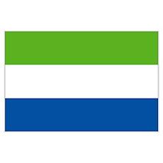 Sierra Leone flag Poster