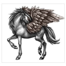 Feathered Equine Canvas Art