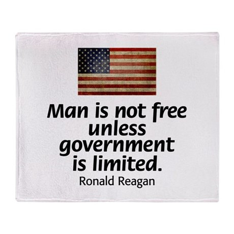 Man is not free unless... Throw Blanket