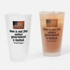 Man is not free unless... Drinking Glass