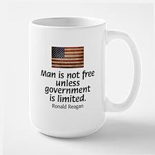 Man is not free unless... Large Mug