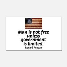 Man is not free unless... Car Magnet 20 x 12