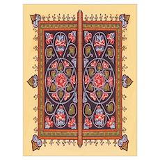 Russian Tile Design Poster
