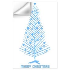 Aluminum Christmas Tree Wall Decal