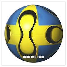 Sweden Soccer Poster