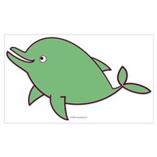 Green Dolphin Poster