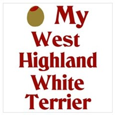 Olive My West Highland White Terrier Poster