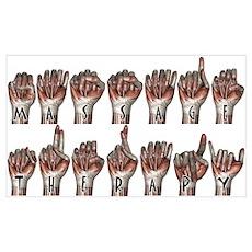 Massage Sign Language Poster