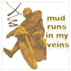 Mud Runs In My Veins Poster
