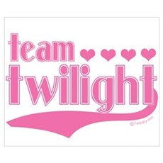 Team Twilight Pink Hearts Poster