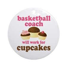 Funny Basketball Coach Ornament (Round)