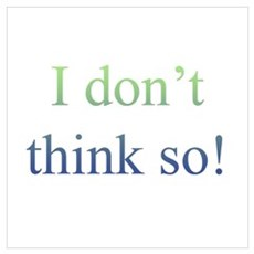 I Don't Think So! Poster