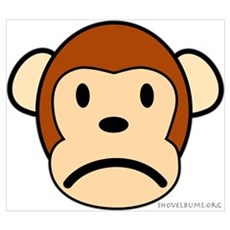 Sad Monkey Canvas Art