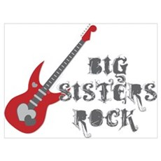 Big Sisters Rock Guitar Poster